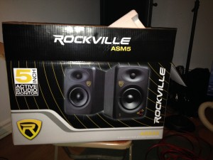 Finally got some real studio speakers!!! Might do some mixing tonight! Woohoo!